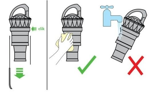 Separate the Cyclone Unit from the Clear Bin